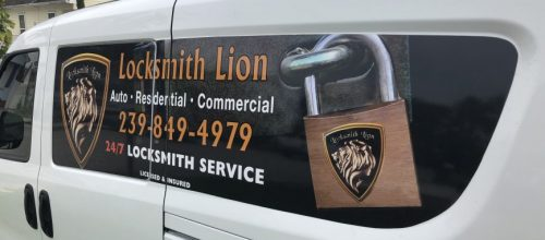 Naples Locksmith Lion van that serving Naples, Marco Island, Estero, Bonita springs, Florida and location near by
